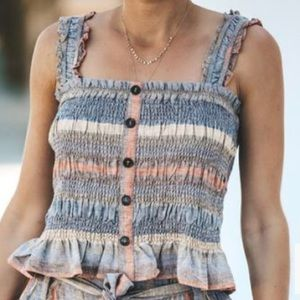 NWT Vici Collection Karina Smocked Tank Top